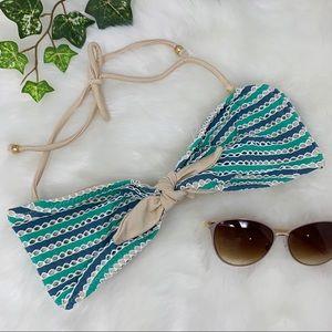 NWT EBERJEY Lola Sandy Sea bandeau bikini top